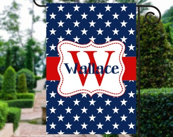 Red White and Blue Flag   4th of July Flag   Patriotic Flag   Personalized Flag   Garden Flags   Patriotic Decor