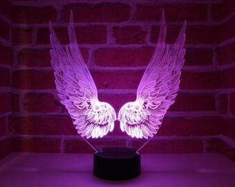 Lampe led ailes d'ange
