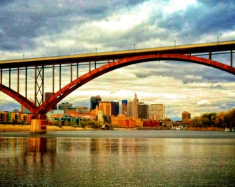 High Bridge over the Mississippi River, with St. Paul in the Background Fine Art 8 X 10