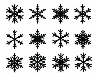 Simple Snowflake Vector Image and Cut Files