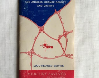 Los Angeles Freeway,LA Metro Map,70s California Map,Southern California Map,LA Freeway Map,LA Freeway,70s Freeway Map,Los Angeles Ephemera