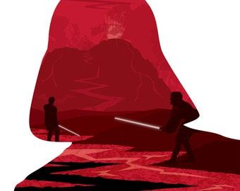 Darth Vader Cross Stitch Pattern, Episode III Modern Star Wars Cross Stitch Chart, StarWars, Pdf Pattern, Instant Download