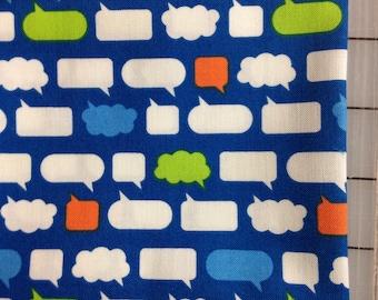 Erin McMorris- Moxie - FAT QUARTER cut of Chatroom in Royal- PWEM046  100% cotton