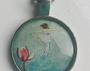 Flower Fairy pendant necklace