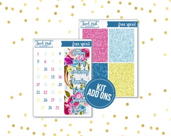 Free Spirit // Kit ADD ONS-Stickers for the EC Happy Planner Life planner