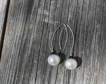 12mm Freshwater pearls with SAPPHIRES and sterling silver ear wires and components