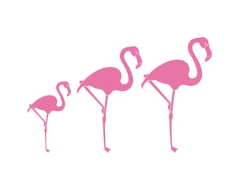 Flamboyance of Flamingos Family Car Decal