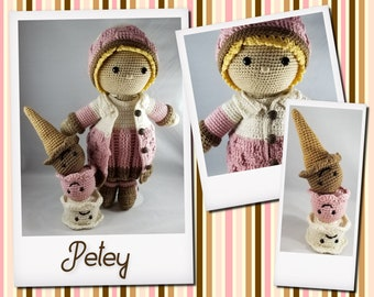 Petey's Winter Outfit & Ice Cream Cone Buddy Crochet Pattern