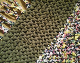 Knitted Scatter Rug
