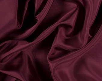 "45"" Wide 100% Silk Crepe de Chine Wine by the yard (1200M172)"
