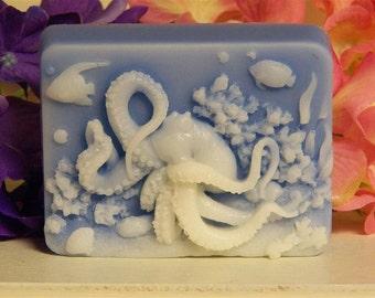 octopus soap glycerin soap shea butter or goats milk glycerin scented in Mandarin Bamboo