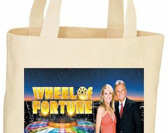 Custom Wheel of fortune tote bag