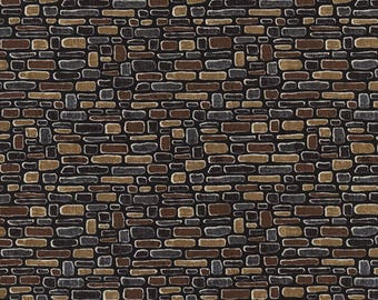 Cobblestone - Fat Quarter - Home Sweet Home - Row by Row Experience 2016 - Timeless Treasures - Stone Fabric - Realistic