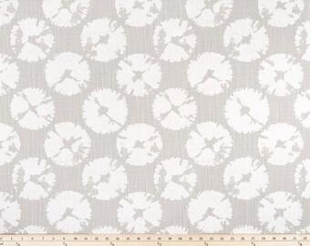 French Grey Valance. Gray & white Sand Dollar  Print. Window treatment. Slub Canvass Fabric.Designers pattern. Curtain. Choose  your sizes