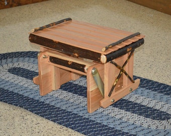 Hickory Gliding Ottoman - matches our Hickory Rockers and Gliders