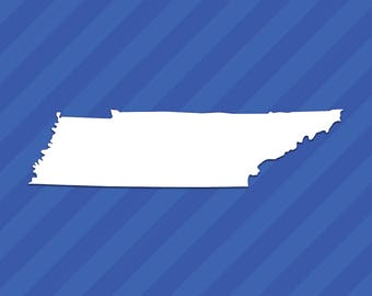 Tennessee TN State Outline Vinyl Decal Sticker