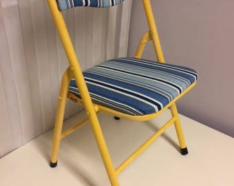 Vintage Metal Folding Child Chair