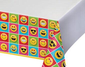 Emoji Party Tablecloth /emoji theme party / emoji
