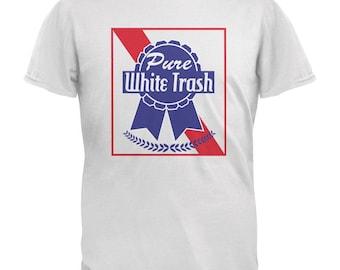 Pure White Trash White Adult T-Shirt