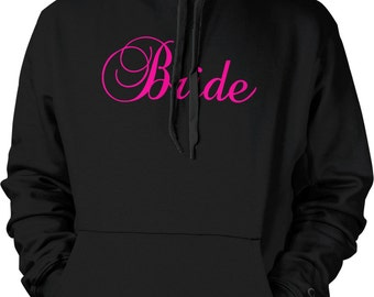 Pink Bride, Bachelorette Party, Wedding Hooded Sweatshirt, NOFO_00319