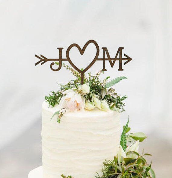 Rustic Wedding Arrow Cake Topper Decoration Beach