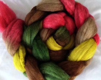 """Our Special Blend Hand Dyed BFL/Silk 4 Oz """"Fruitcake"""""""
