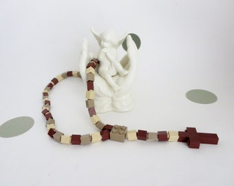 Catholic Rosary made of Lego Bricks - Desert Camouflage  Rosary - First Communion Gift