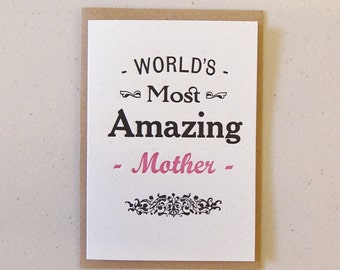 World's Most Amazing Mother Birthday Mother's Day card