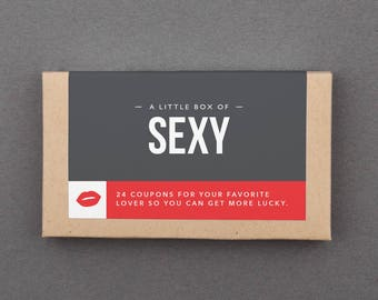 """Dirty Gift for Him, Man, Husband, Boyfriend. Funny, Naughty, Mature, Adult. Sex, BJ. Birthday, Anniversary, Wedding. """"Sexy Coupons"""" (L2SEX)"""