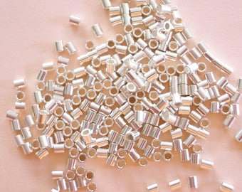 100 Sterling Silver Crimp Beads 2mm x 2mm