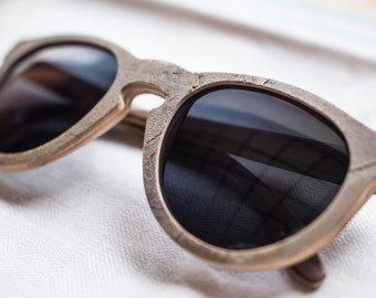 Vintage Style Sunglasses, Handmade Wooden Eyewear, Wood and Stone frames,