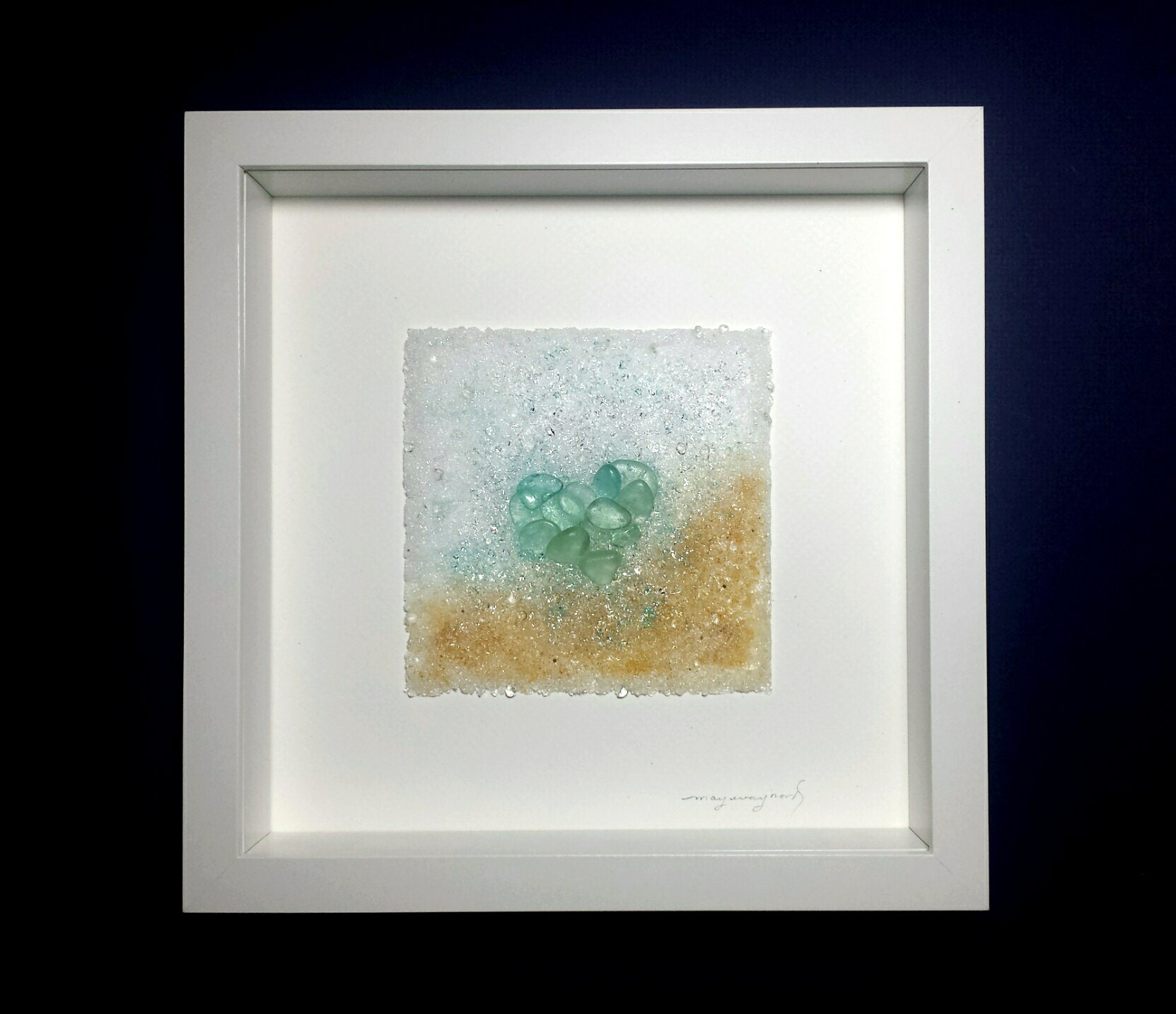 Upon your Shore 10 10 Seaglass Fused Wall Art