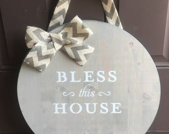 Bless this House wood sign
