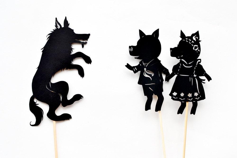 Three Little Pigs: Abridged Shadow Puppet Set