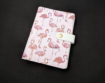 Pink Flamingo A6 Personal Size Planner Faux Leather Filofax Style Agenda Organizer Diary 6 Ring