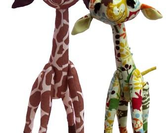 "Gemini soft toy 18"" giraffe sewing pattern (digital)"