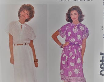 "McCalls #7460 ""Make it Tonight"" Pullover Dress - Size ""Medium""  Un-Cut - Complete  SUPER EASY"