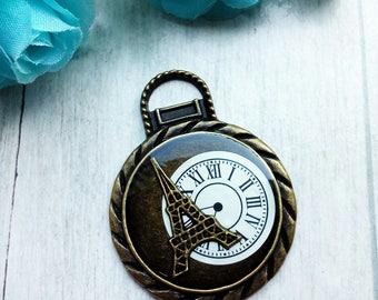 1 Eiffel Tower Pocket Watch shaped pendant