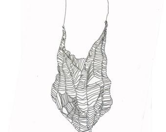 Vintage Chain Web Necklace 1990s