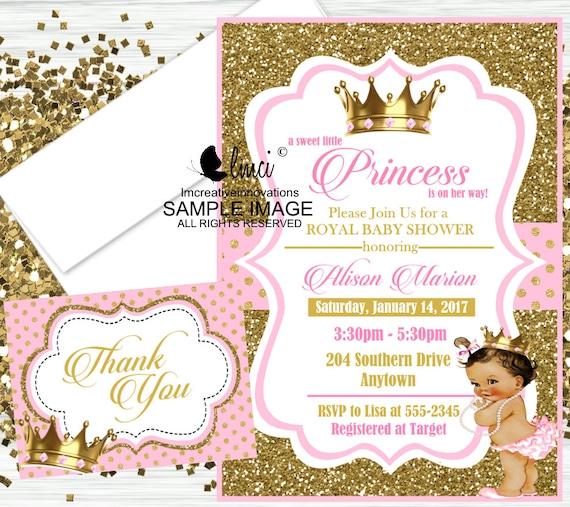 Royal Princess Baby Shower Invitation Little Princess