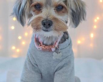 Sparkly Grey Dog Sweater, Dog Sweatshirt, Dog Clothes, Small Dog Sweater,