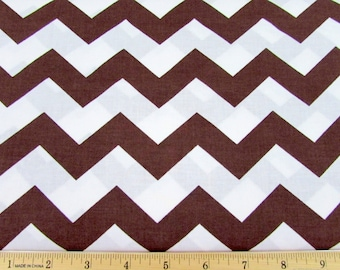 "1"" Chevron Brown Fabric"