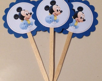 Baby Mickey Mouse Cupcake Toppers