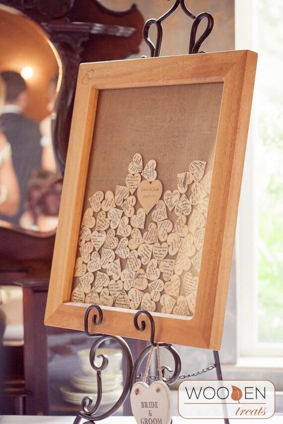 Unique Heart Guest Message Frame. Wedding Guest Book.