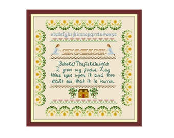 Behold The Field Where I Lay My Cross Stitch Pattern - Cross Stitch Sampler - Funny Cross Stitch