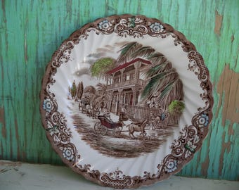 Vintage Heritage Hall 8 inch Salad Plate By Johnson Brothers