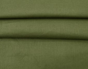 """Olive Green Fabric, Cotton Fabric, Dress Material, Decorative Fabric, Sewing Accessories, 40"""" Inch Fabric By The Yard ZBC7559A"""