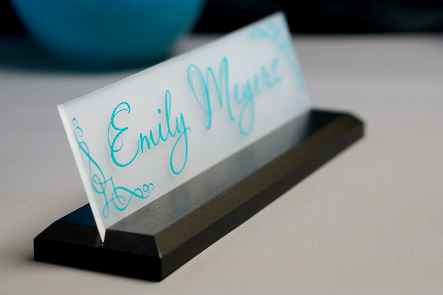 Office Name Plates: CoWorker Gift Desk NamePlate Personalized Professional Office