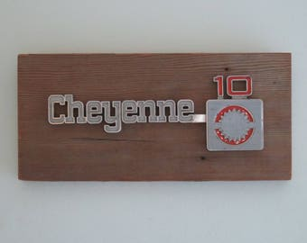Chevy Cheyenne 10 Truck Emblem Wall Plaque No. 78