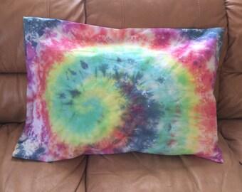 Rainbow Tie Dye Pillow Case